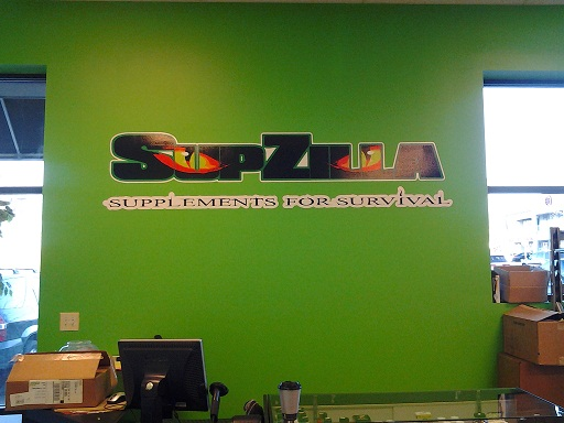 Printed wall lettering